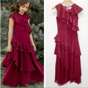 Joyfolie Mia Joy Celia Cranberry Ruffle Dress